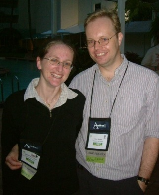 Katharine O'Driscoll and Dr Tom James at AODC 2006 in Cairns